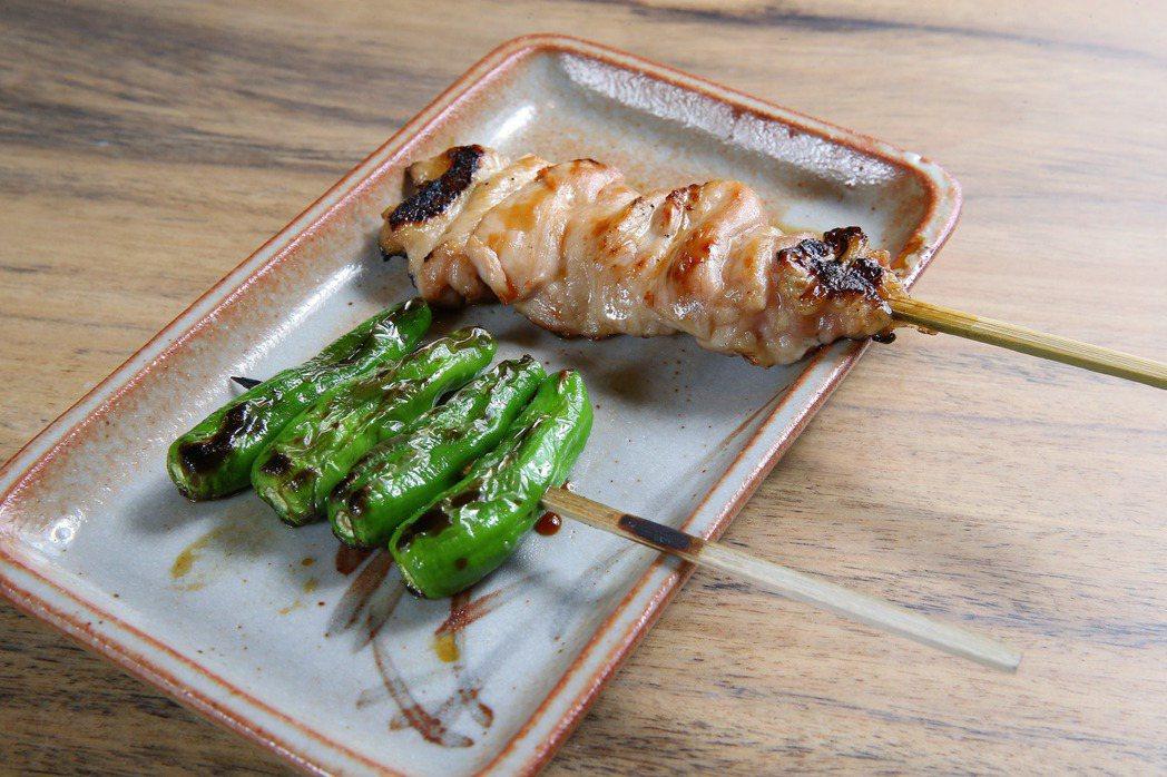 品味專刊-米其林一星台北鳥喜正式開幕,時時豆和雞腿肉。記者陳柏亨/攝影