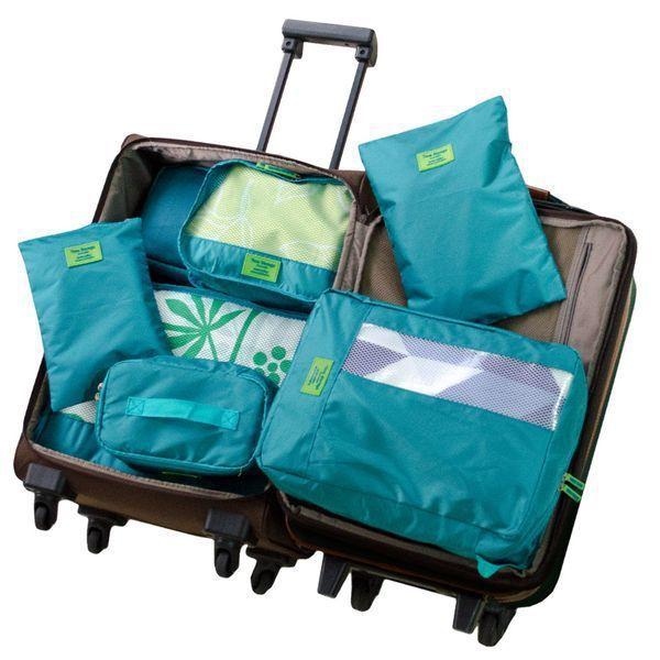即日起至5/31止,【Travel to Go】多功能旅行收納七件組-藍綠特價$...