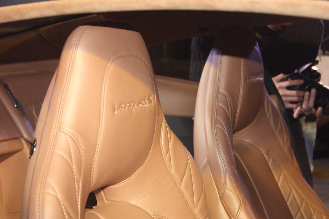 Aston Martin Vanquish S內裝。記者林和謙/攝影