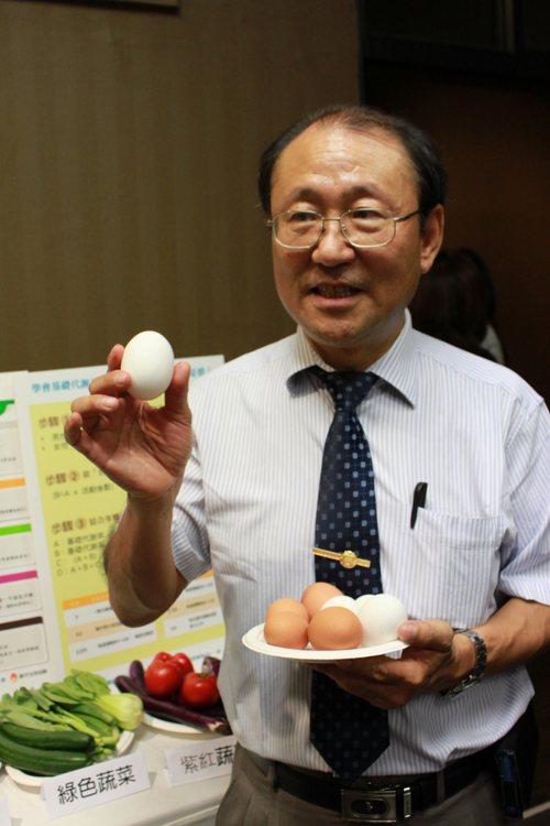 台大註冊組主任洪泰雄建議考生,考試期間要多攝取雞蛋、魚肉等優質蛋白質。本報資料照...