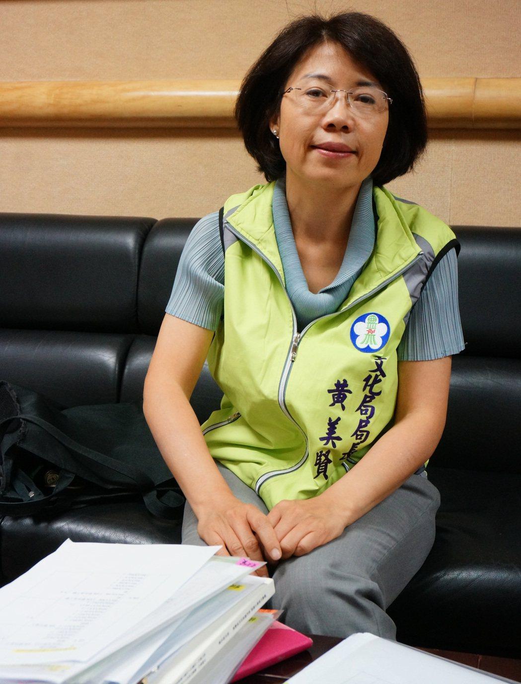 嘉市府文化局長黃美賢去年1月到任。記者林伯驊/攝影
