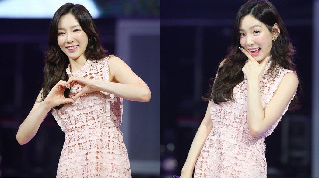 太妍來台開唱,舉辦記者會笑容滿面。記者王騰毅/攝影