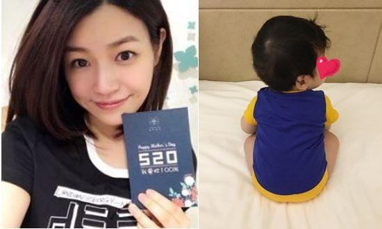 藝人陳妍希在個人微博秀出5個月大兒子的背面全身照。 圖/翻攝自陳妍希微博、臉書