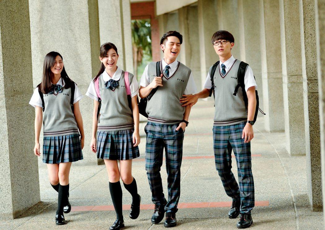 「料理高校生」學生制服有貴族校園氣息。圖/三立提供