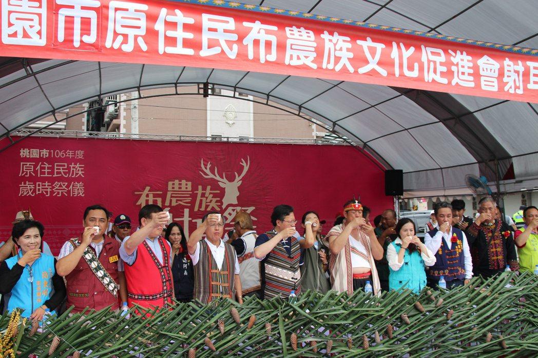 桃園市原住民族行政局今日舉辦「布農族射耳祭」活動。記者許政榆/攝影
