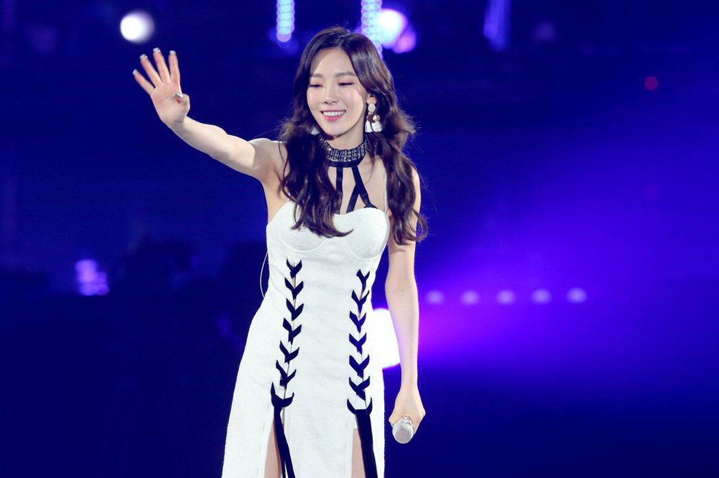 南韓女子天團少女時代隊長太妍晚間在台開唱。記者王騰毅/攝影