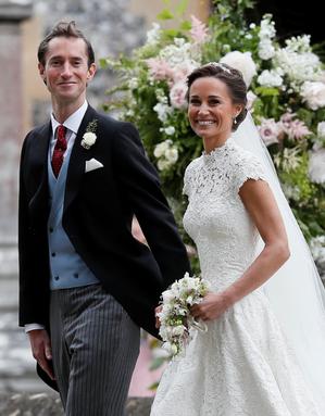英國劍橋公爵夫人凱特的胞妹琵琶‧密道頓20日出閣,與避險基金經理人馬修斯在英格蘭...