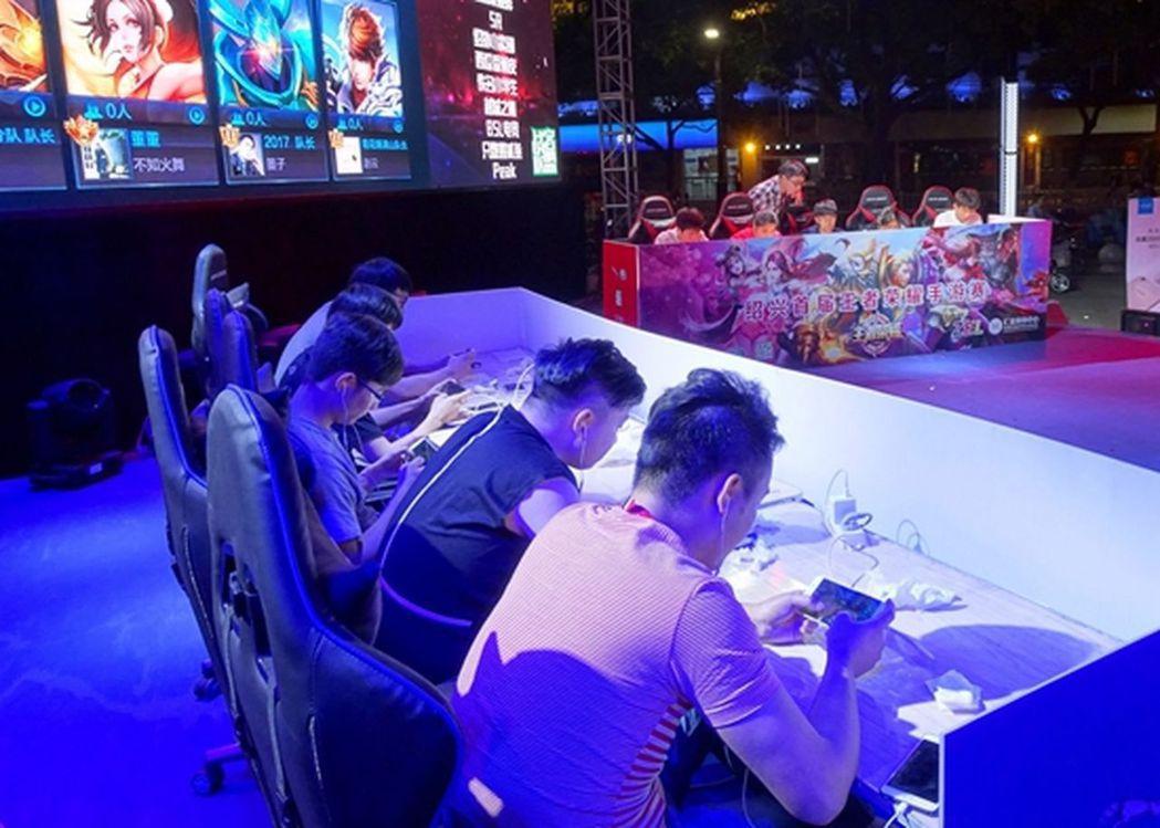 浙江紹興首屆《王者榮耀》手遊比賽現場。 圖/取自中國青年報