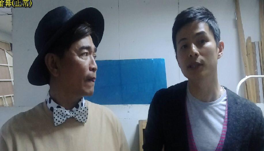 孫協志(右)和吳宗憲兩人聊起蔡允潔。記者林怡秀/攝影