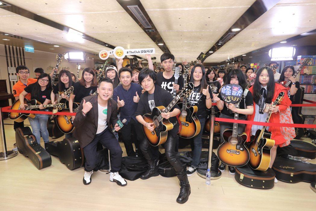 怪獸(前)特別在香港會歌迷。圖/相信音樂提供