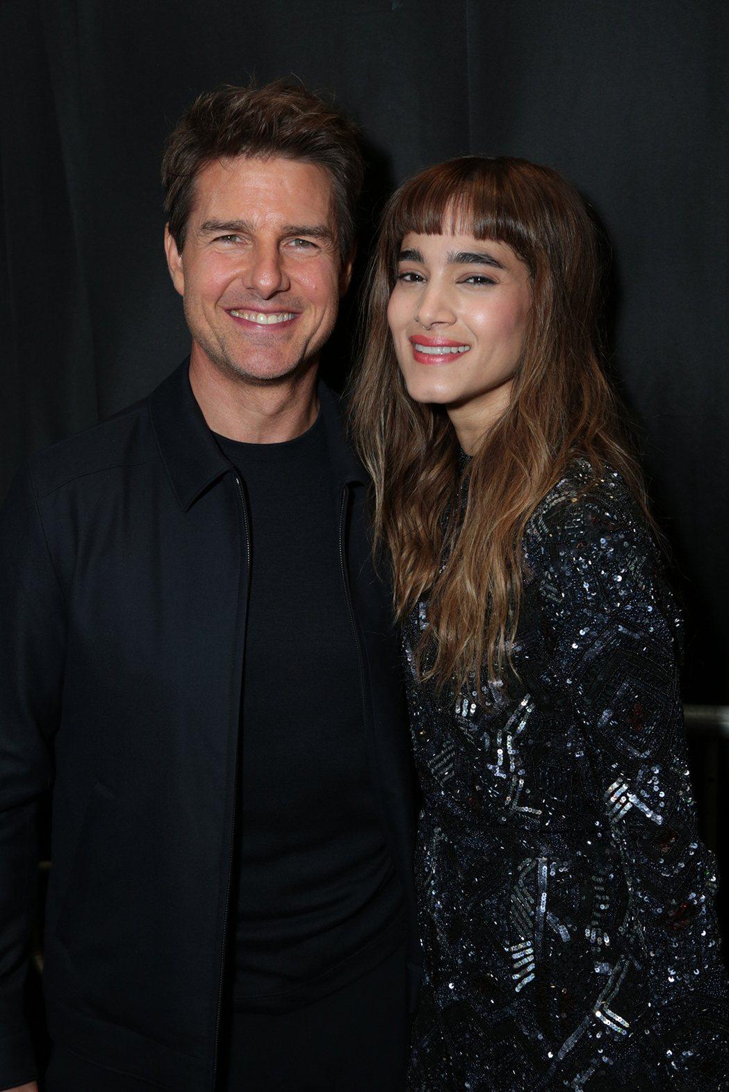 男主角湯姆克魯斯、女主角安娜貝爾瓦莉絲出席好萊塢520「神鬼傳奇」日。圖UIP提...