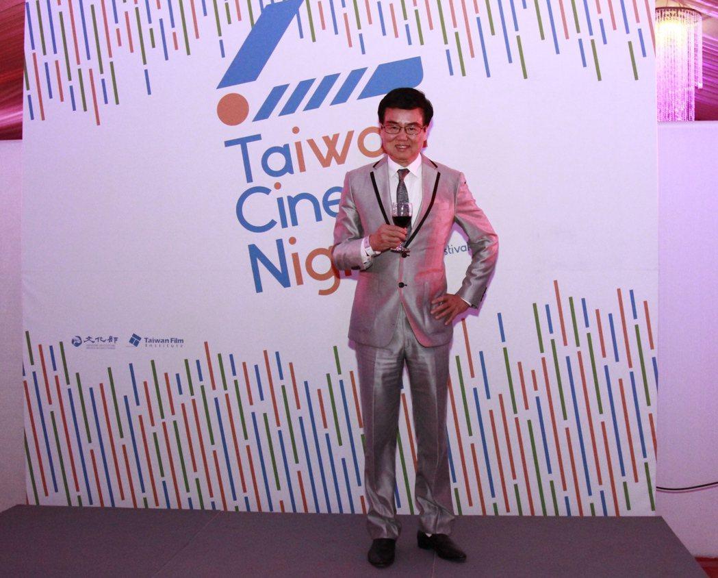 黃百鳴出席坎城影展「台灣之夜」活動。圖/國家電影中心提供