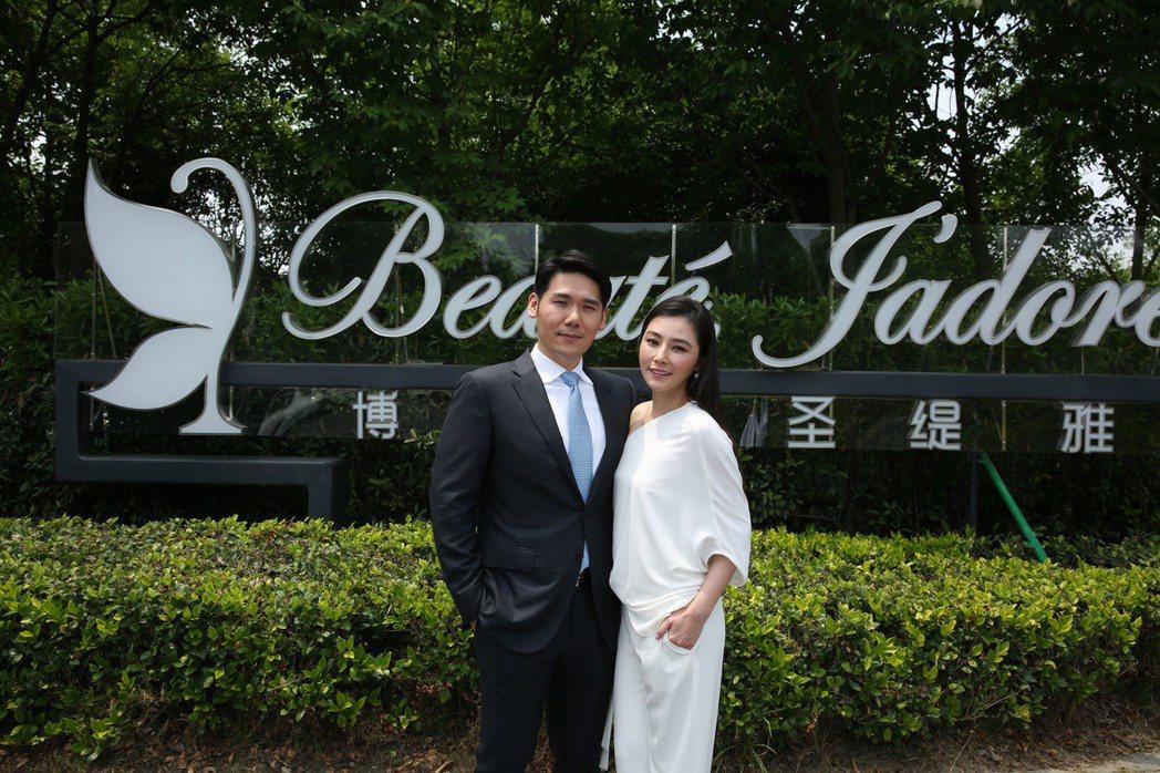 薛博仁與陳怡蓉出席杭州新醫學中心開幕活動   圖/博仁聖稊雅提供