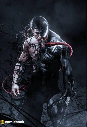 知名設計師BossLogic秀出湯姆哈迪演「猛毒」的可能造型。圖/摘自IG