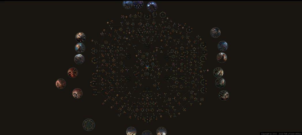 《流亡黯道》的天賦系統以星圖的方式呈現,看上去十分複雜。