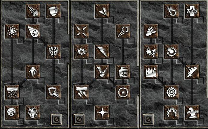 《暗黑破壞神II》的天賦樹設計。