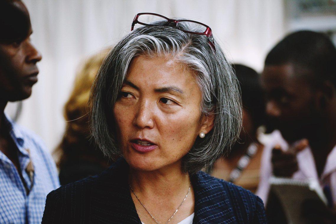 資料圖片:即將成為南韓史上第一位女外長的康京和,也是目前是在聯合國工作的韓國女性...