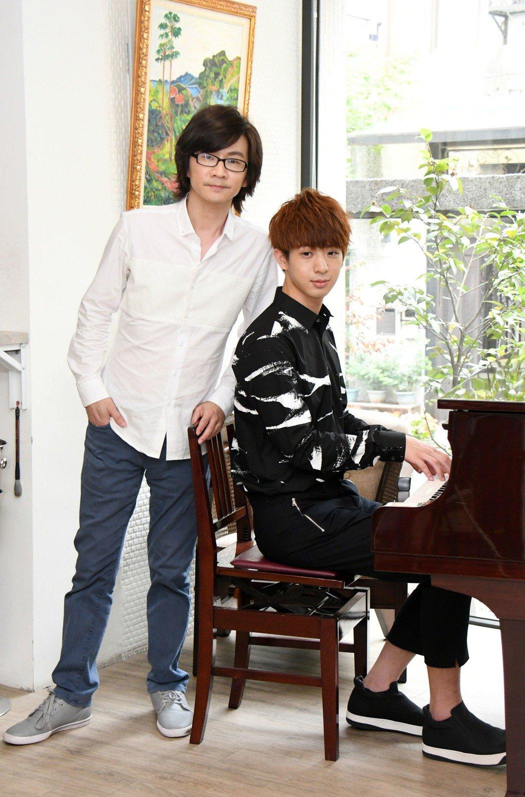 林隆璇有子亭翰接衣缽當歌手。圖/青田音樂文化提供