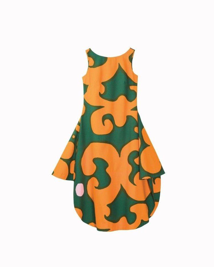 Marimekko印花不規則洋裝,12,890元。圖/Marimekko提供