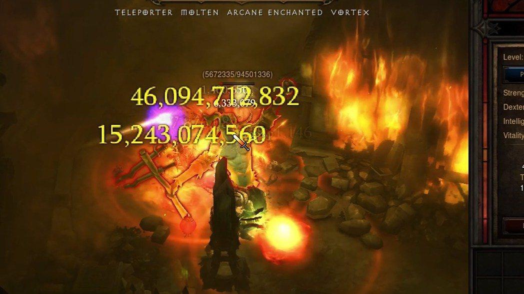隨著遊戲改版,《暗黑破壞神III》所能打出的傷害愈來愈驚人。 圖/《暗黑破壞神I...