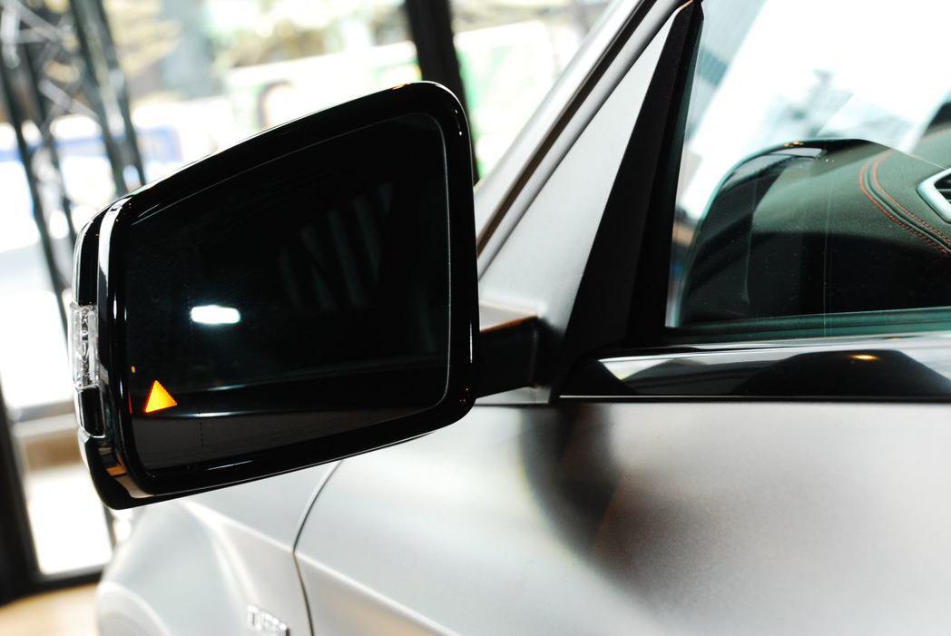 車側盲點偵測警示系統。記者林昱丞/攝影