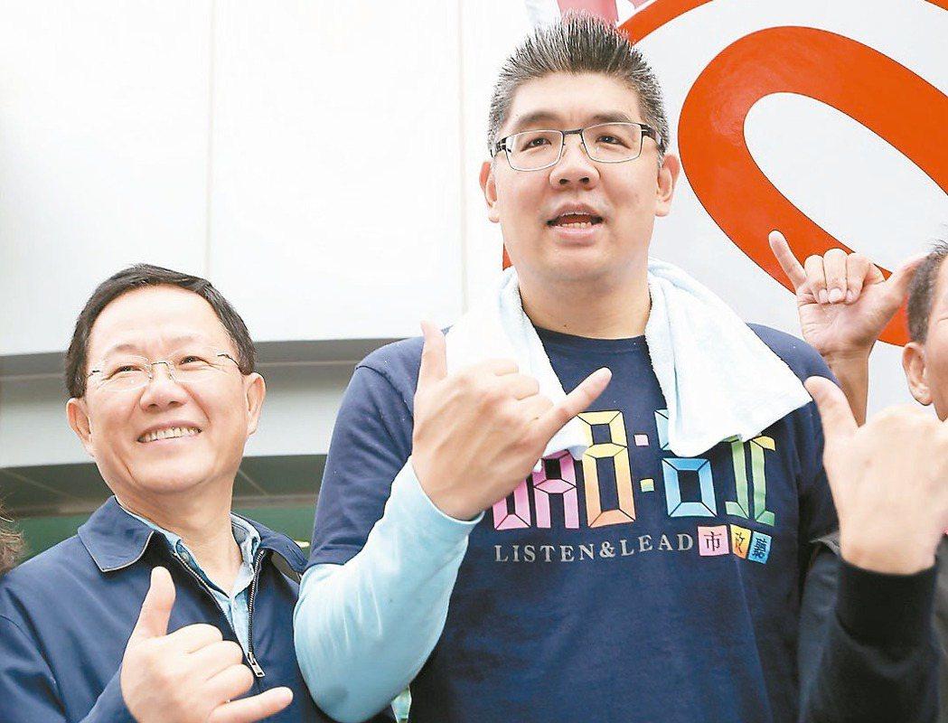 連勝文(右)、丁守中(左)都傳出有意角逐台北市長。 圖/報系資料照