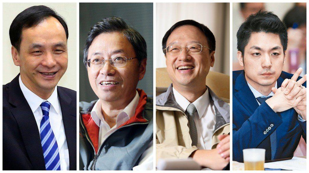 圖由左至右分別為:朱立倫、張善政、江宜樺、蔣萬安。 圖/報系資料照