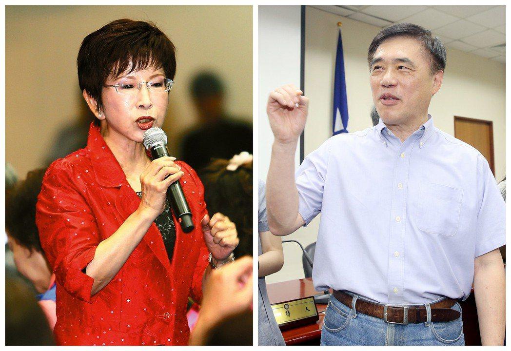 桃園由黨主席選戰二、三名的洪秀柱(左)與郝龍斌(右)出征,也不失為一個考慮的方向...