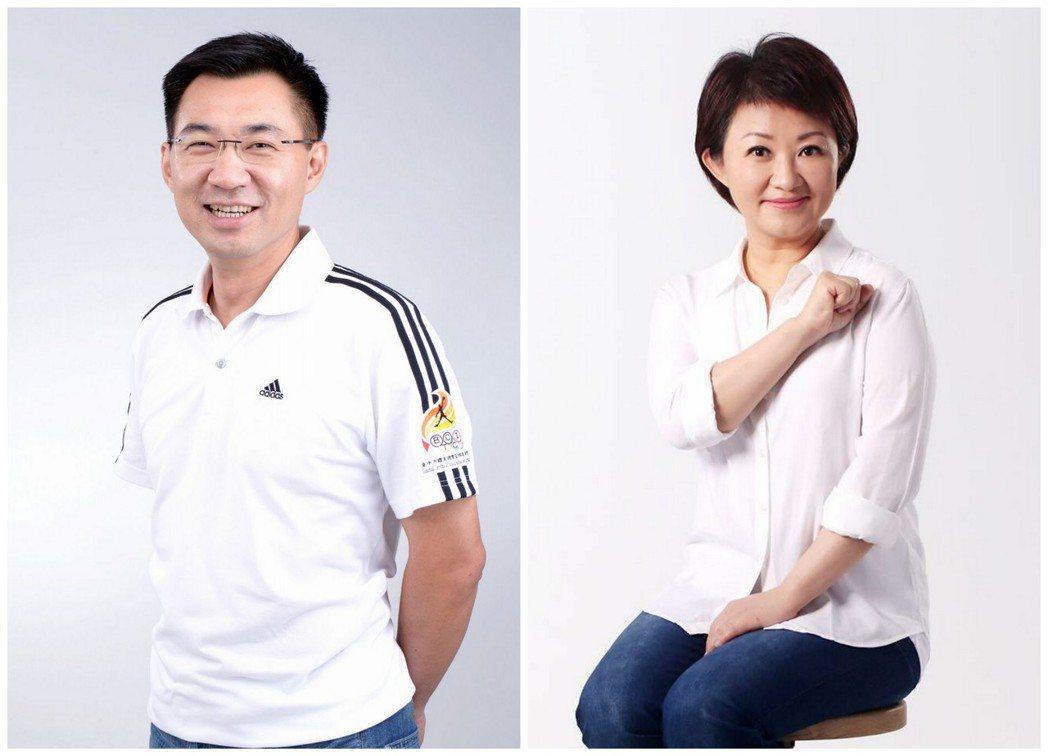 台中人選江啟臣(左)、盧秀燕(右)都是黨內強棒。 圖/報系資料照