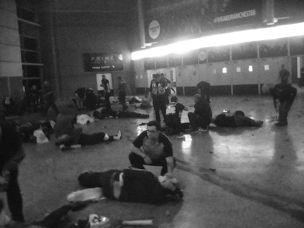 英國曼徹斯特體育館演唱會遭血腥攻擊。圖/美聯社