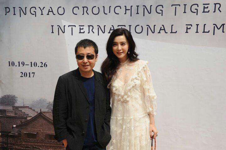 大陸名導演賈樟柯在坎城影展宣傳平遙國際電影節,女星范冰冰到場站台。特約記者唐在揚...