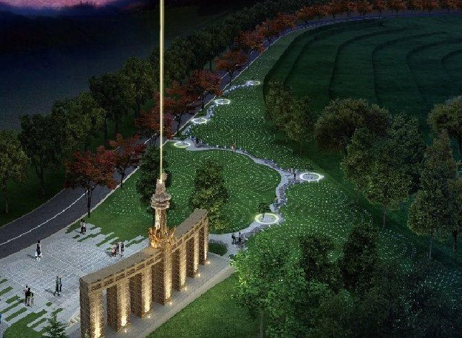 擁恆文創園區今天證實,豬哥亮墓園近日將有破土儀式,將下葬在以北斗七星為設計的立足