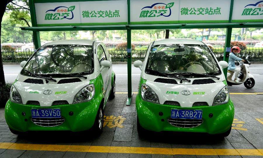 市場潛力最備受國際注目的是中國的微型電動車市場。 圖/新華社