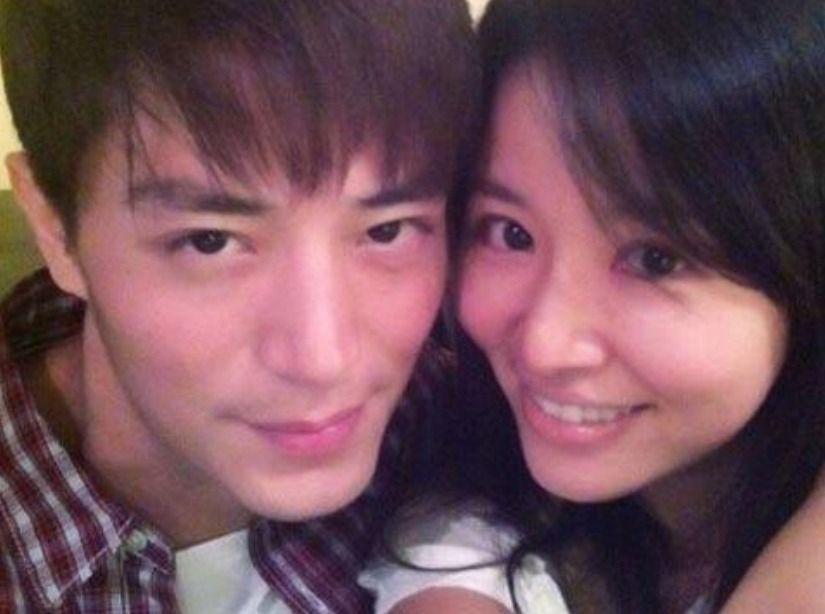 林心如(右)與霍建華去年5月20日認愛。圖/摘自微博