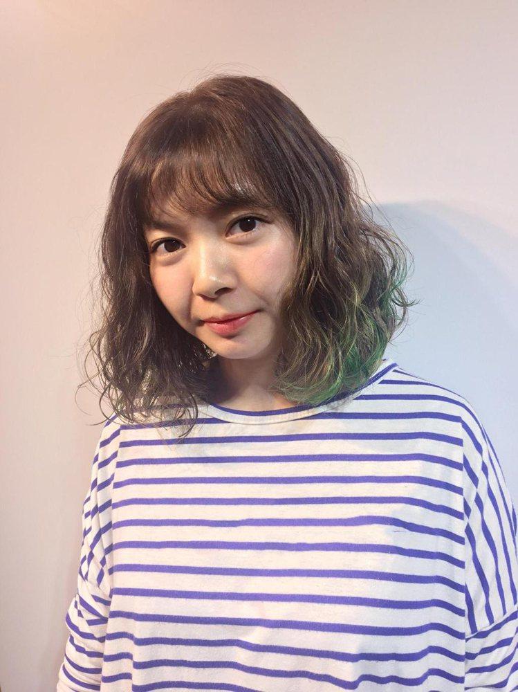 髮型創作/諾亞藝術造型 裕民店-Mini。圖/HairMap美髮地圖提供