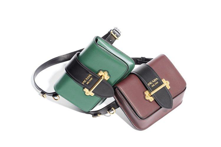 PRADA Cahier腰包,各54,500元。圖/PRADA提供