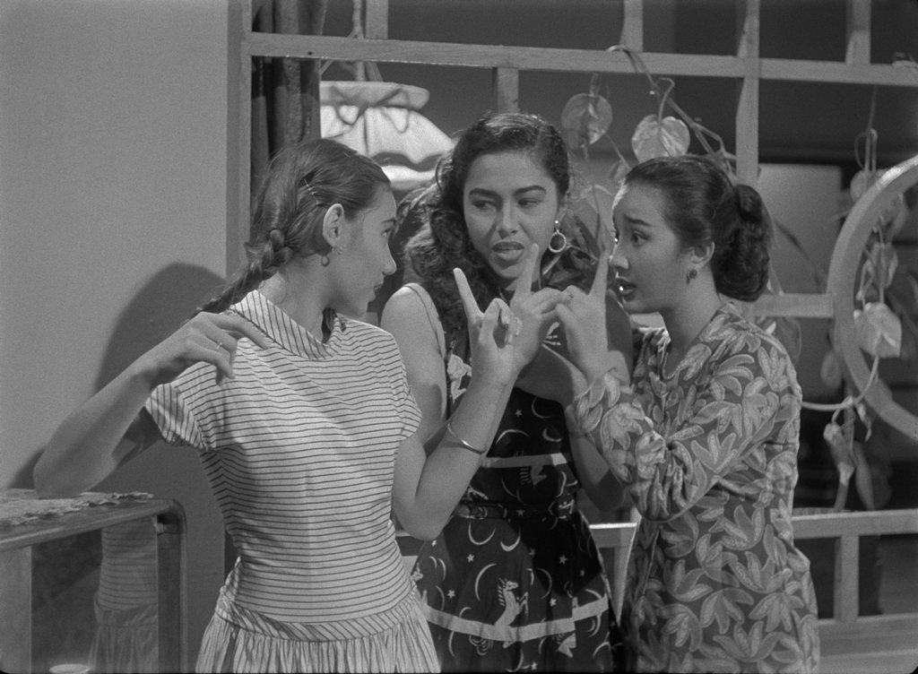 1956年印尼首部歌舞片「閃亮三姊妹」,也是印尼第一部4K修復版電影。圖/台北電...