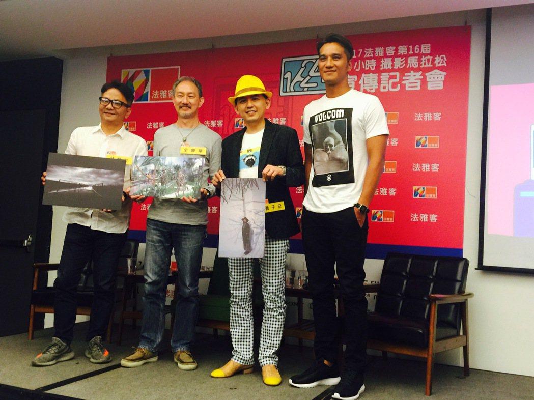 左起:知名攝影師林炳存、台灣國際視覺藝術中心執行長全會華、黃子佼、馬志翔。圖/法