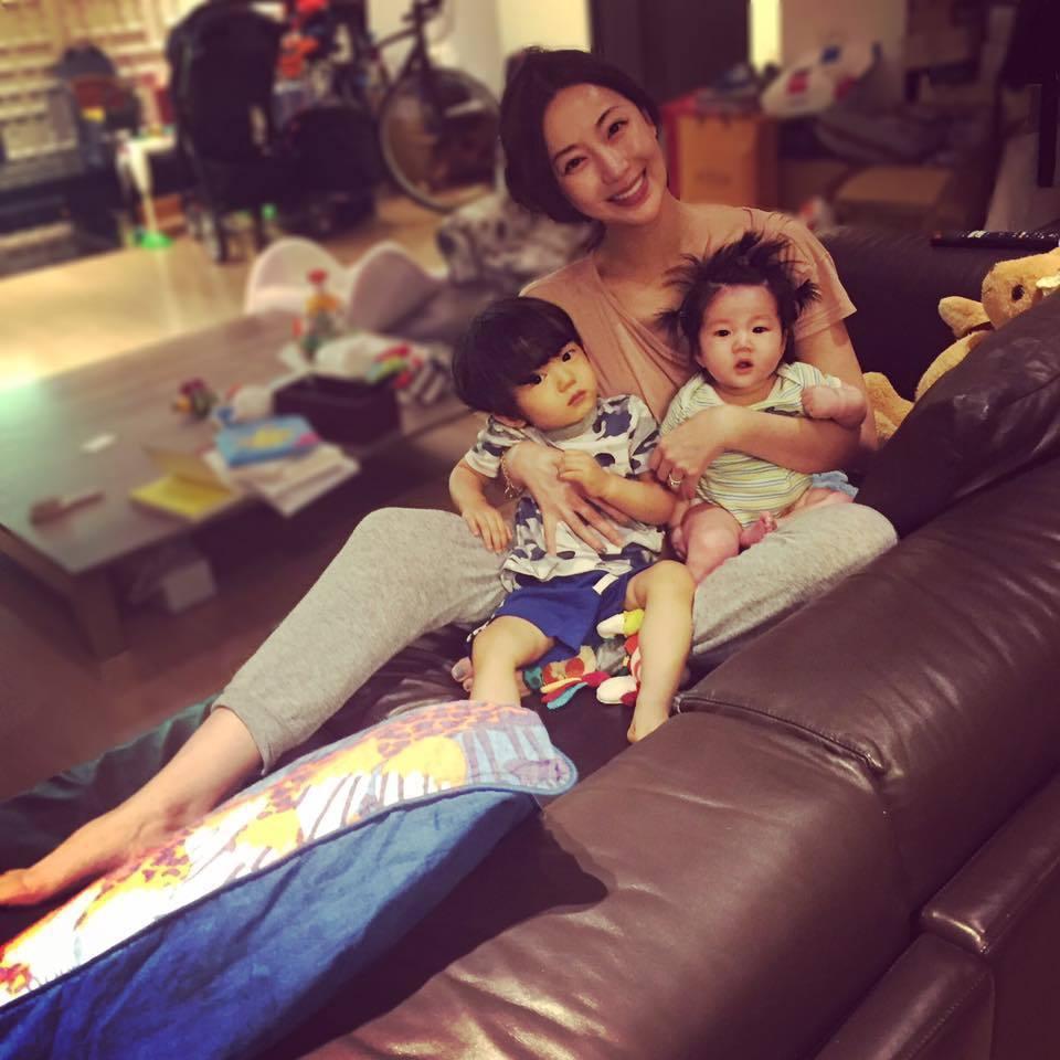 隋棠現在把生活重心放在兩個孩子身上。圖/摘自臉書