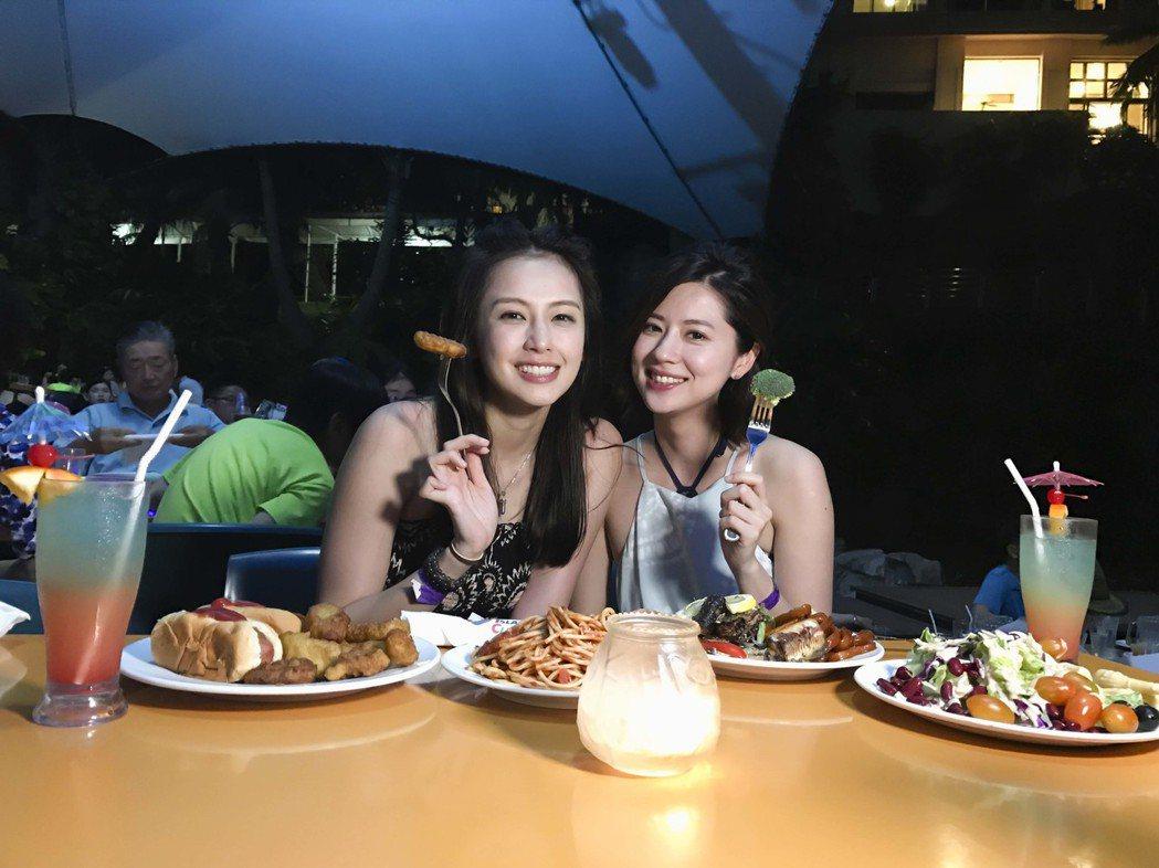 袁艾菲林予晞16年友情首次出遊。圖/TVBS提供