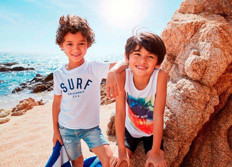2017 H&M 夏季童裝形象照。圖/H&M提供