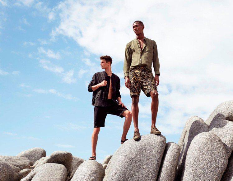 2017 H&M 夏季男裝形象照。圖/H&M提供