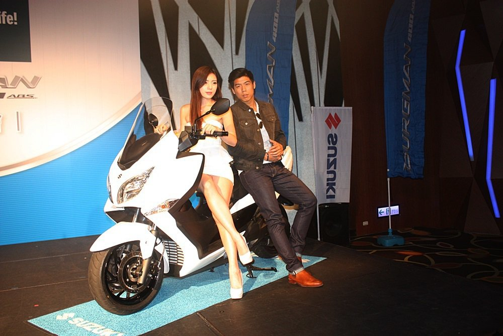 全新大改款Suzuki Burgman 400亮相,台灣是全球首發。 記者林和謙...