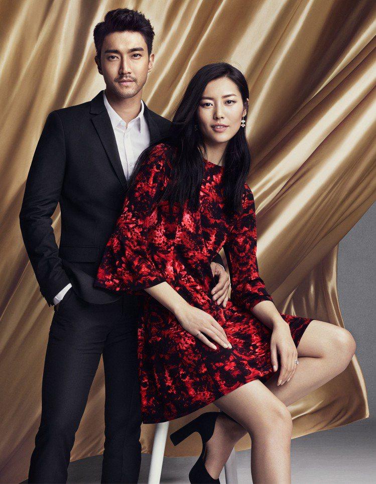 H&M邀「石榴夫婦」詮釋喜氣洋洋的中國年。圖/H&M 提供