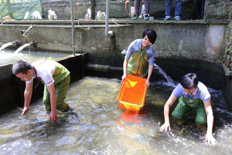 養鱒場可體驗手撈鱒魚及垂釣等有趣活動