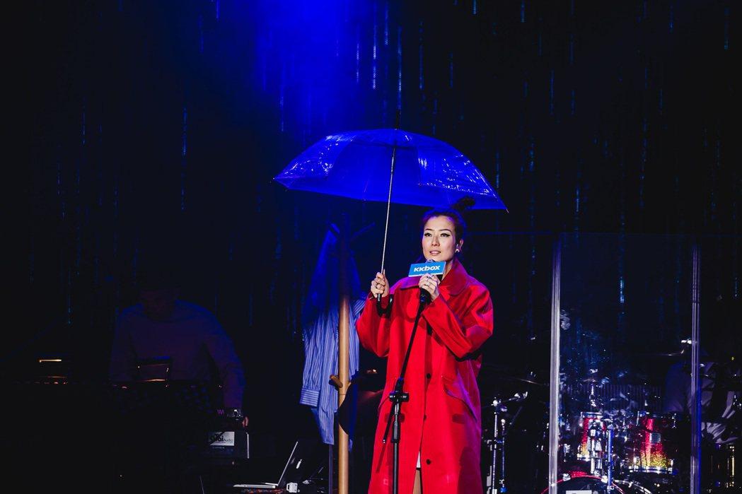 鄭秀文24日晚間在台北開唱。圖/KKBOX提供