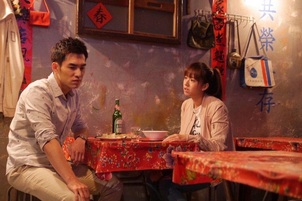 方志友(右)和張書豪劇中大吵而崩潰大哭。圖/TVBS提供