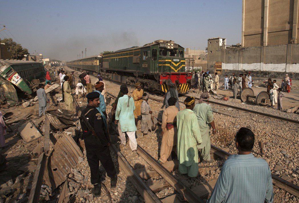 中巴經濟走廊數月前公佈喀拉蚩環城鐵路的修整計畫。 圖/美聯社