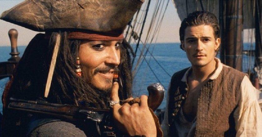 強尼戴普、奧蘭多布魯當年以「神鬼奇航」雙雙成為好萊塢一線巨星。圖/迪士尼提供
