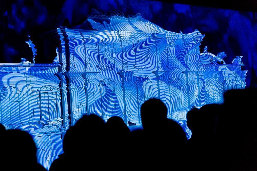 策展團隊大亦睿製作的「圓明園3D華麗光雕投影劇場」。